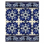 Mariposa- Set of Mexican tiles with a border
